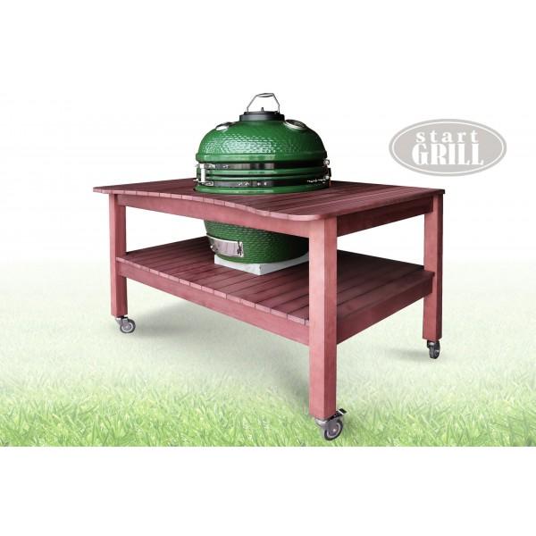 Стол для керамического гриля розовый