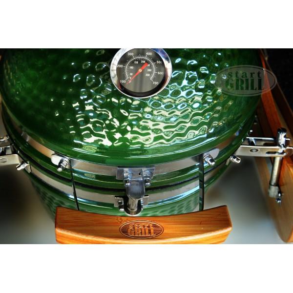 Керамический гриль зеленый, 31 см