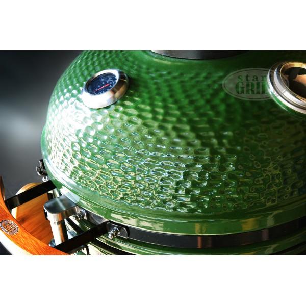 Керамический гриль зеленый, 57 см